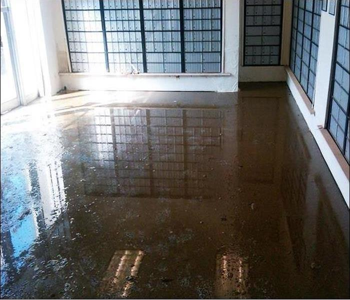Storm Flooding in a Casa Grande Mail Room Before